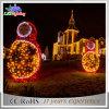 Grande lumière commerciale extérieure d'horizontal de motif des décorations DEL 3D de Noël