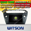 Carro DVD GPS do Android 5.1 de Witson para Citroen Elysee/301 2012 com sustentação do Internet DVR da ROM WiFi 3G do chipset 1080P 16g (A5695)