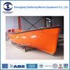 Einzelner Arm-geöffnetes Rettungsboot Gummilack-Zustimmungen Bundesrepublik-P