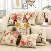 il caso decorativo di tela del cuscino di manovella del sofà del coperchio dell'ammortizzatore del cotone spesso 150g ha stampato