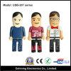 Commande en plastique d'instantané d'USB de forme de dessin animé d'homme de cadeau de promotion (USB-207)