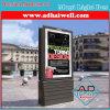 Box Luz Plaza Scrolling inoxidável com 6 Poster