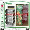 Supermercado plegable apilable cesta pie, con publicidad del tablero