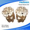 Bits de botão de rosca, T51-127mm, 16 botões, saia Retrac