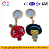 Custom Cartoon Doll PVC Keychain, metal chaveiro com corrente