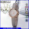 Fabrik-Uhr der kundenspezifischen lederne Brücke-Quart-Geschenk-Damen (Wy-089E)