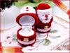 Anneau de velours boîte Boîte d'emballage de bijoux de Noël