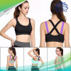 適性のヨガの十字ストラップの女子体操パッドを入れられたタンク運動ベストの下着のための女性のスポーツのブラを押上なさい