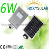 Integriertes Bridgelux Solar-LED Straßenlaterne6W