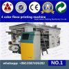 Máquina de 4 colores de alta velocidad de impresión flexográfica para no tejido con Anilox de cerámica