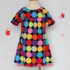 Короткое платье хлопка втулки для девушки