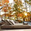 ホーム庭の屋外の家具のプールの藤浜の日曜日のベッドのPEの柳細工のサンルームの椅子T517