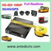 gravador de vídeo do carro da canaleta de 4G/3G 1080P 4/8 com seguimento do GPS