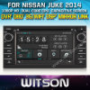닛산 Juke 2014년 (W2-D8900N)를 위한 GPS를 가진 Witson Car DVD Player