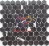 Черная естественная мраморный мозаика шестиугольника плитки (CFS1120)