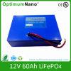 12V 60ah de Batterij van LiFePO4 die voor UPS, AchterMacht wordt gebruikt