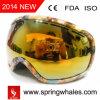 Lunettes de ski personnalisées, des sports les lunettes, lunettes de neige de l'embarquement (neige-2718)