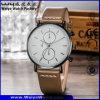Повелительниц кожаный планки кварца способа wristwatch изготовленный на заказ классицистический (WY-P17013A)