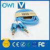 Медный штейн плоский кабель от 3.5mm до 3.5mm тональнозвуковой вспомогательный