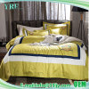 De zachte Luxueuze Luxe4PCS Gele Reeks van het Dekbed van de Koning