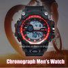 De Horloges van de OpenluchtMensen van de Sporten van de Wijzerplaat van de manier Militaire 30m Waterdichte met Chronograaf