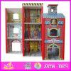 2014 형식 New Wooden Dollhouse Model Toy, Wholesale DIY Wooden Dollhouse Toy, 3D Colorful Baby Wooden Dollhouse Set Factory W06A049