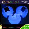 Sofá de plástico brillante LED iluminado mobiliario
