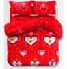 2017新しいデザインOEMの赤い赤ん坊の寝具のギフトセット