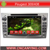 Car DVD Player for Pure Android 4.4 Car DVD Player with A9 CPU Capacitive Touch Screen GPS Bluetooth for Peugeot 308/408 (AD-7103)