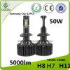 Linterna aumentada del coche de 50W 5000lm P7 LED con el Ce RoHS