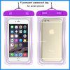 2016 Fluorescente teléfono celular de PVC bolsa impermeable
