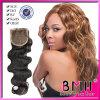 Colore svizzero del Brown dell'onda del corpo della chiusura del merletto dei capelli cambogiani di Remy
