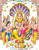 Goldfolien-indische Gott-Abbildung (THL-10)