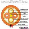 Débouchure de intérieure de câble à fibre optique à l'intérieur 2 fibres 2.0mm Simplex