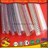Gelber Stahldraht-Schlauch der Belüftung-flexibler glatter Oberflächenabsaugung-Hose/PVC