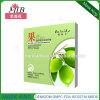 Máscara protetora de seda hidratando de nutrição da fibra da fruta da pele verde-oliva