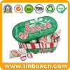 크리스마스 타원형 모양 패킹 사탕 선물을%s 감미로운 주석 상자
