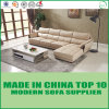 Sofá de madeira de canto simples da mobília moderna da sala de visitas do estilo