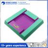 Zweifarbiger Melamin-Quadrat-Aschenbecher mit Firmenzeichen