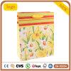 노란 꽃 형식 예술 입히는 선물 종이 봉지