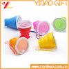 Tazas plegables del silicón de la categoría alimenticia de la venta al por mayor de la fábrica del silicón (XY-FF-173)