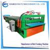 Folha de metal corrugado tornando a máquina de formação de rolos de tejadilho