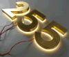 Segno indietro illuminato della lettera dell'acciaio inossidabile di alfabeto 3D del metallo del LED per il commercio