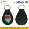 Custom Metal Leather Keychain com placa nacional de metal da bandeira