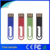 자유로운 주문 로고 플라스틱 클립 USB 섬광 드라이브 4GB