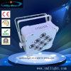 9PCS 10W 4in1 LED NENNWERT Licht-nachladbare Batterie und drahtloses DMX flaches NENNWERT Licht