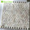 Tuile de mosaïque de marbre blanche Shaped de bon modèle de brique de mur ou d'étage