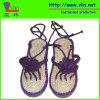 Pistone delle signore di modo/sandali con il sottopiede della paglia