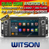 DVD del coche del androide 5.1 de Witson para el compás del jeep (W2-F9509C)
