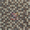Brown Color Stone e Glass Mosaic Tile (CS185)